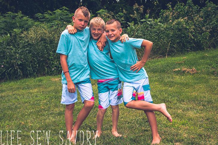 boys swim wear to sew and make