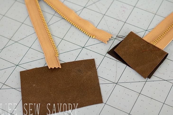 add zipper tabs