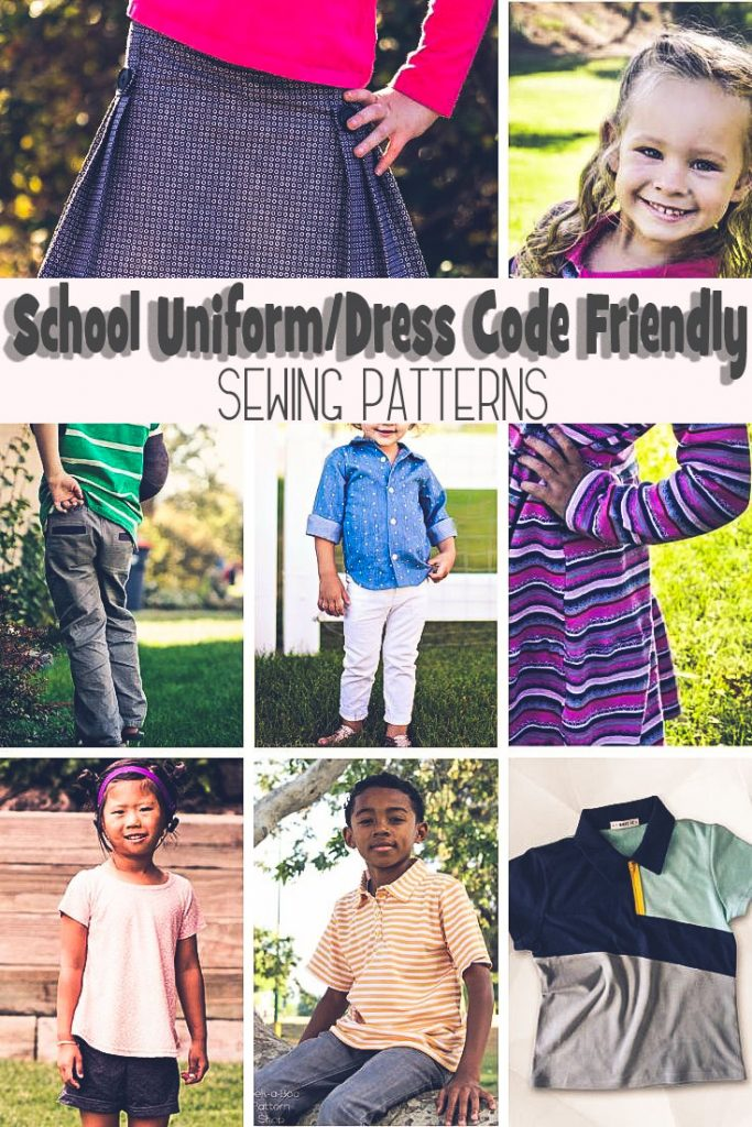 sewing patterns that work for school uniforms and dress codes collection from Life Sew Savory