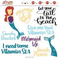Mermaid SVG Cut Files - Liz on Call