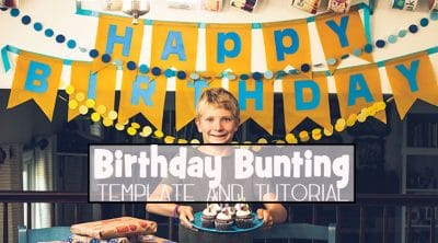 Bunting Template for Birthdays