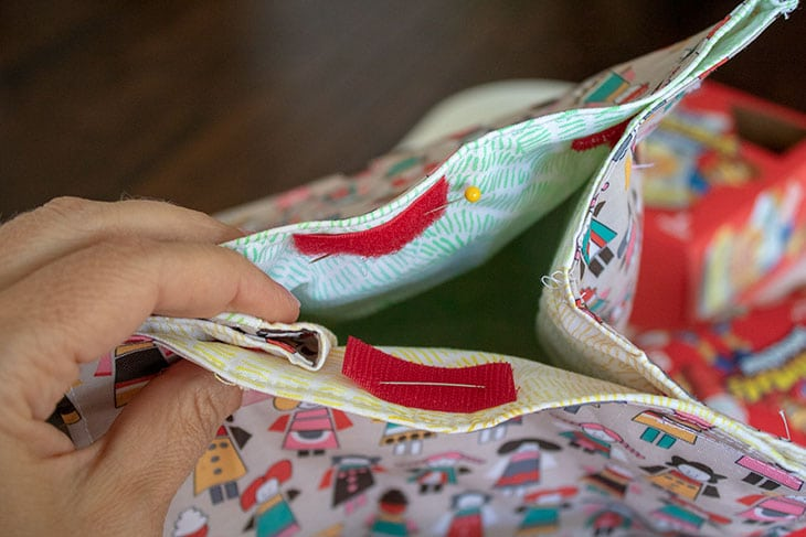 velcro reusable lunch bag diy