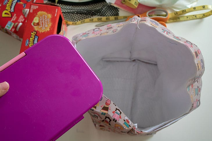 DIY lunch bag sewing tutorial