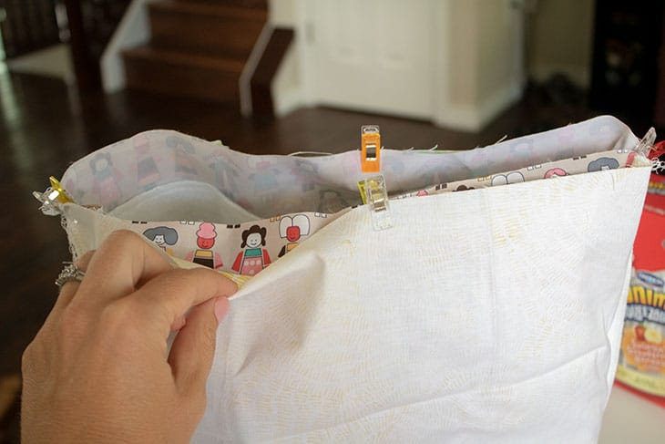 sew your own DIY lunch bag