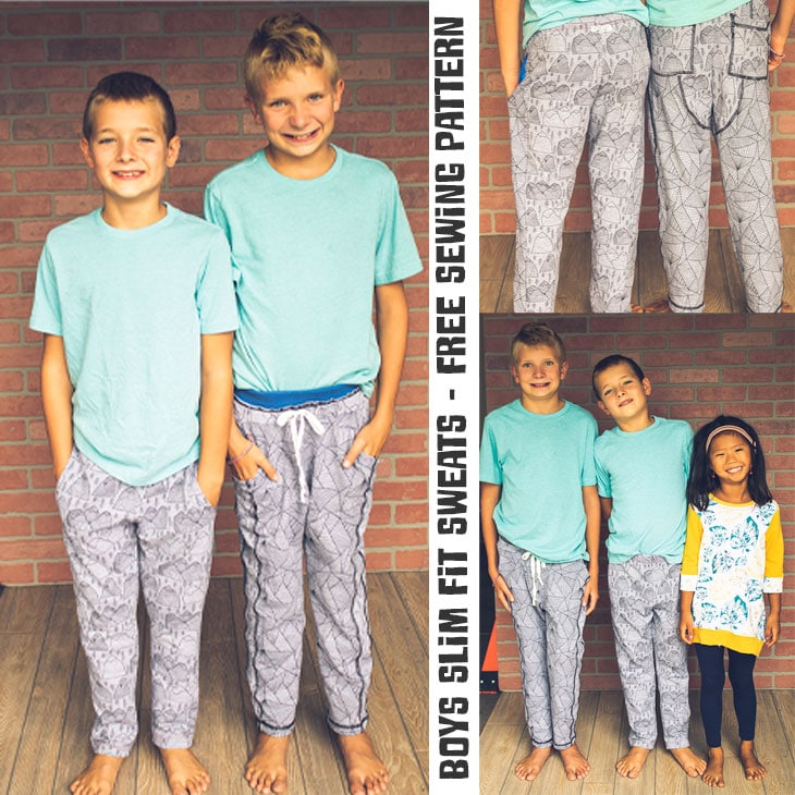 boys sewing pattern for sweat pants