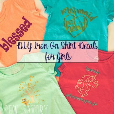 DIY Iron On Shirt Decals for Girls