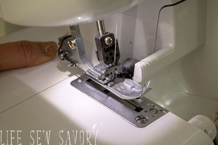 clear elastic sewn with a serger