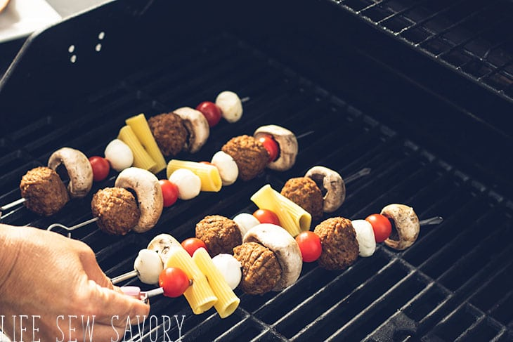put your kebabs on the grill for 15-20 min
