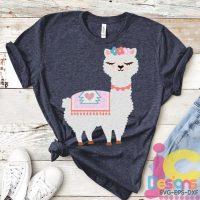 llama svg, alpaca svg, llama face svg, girls birthday svg,