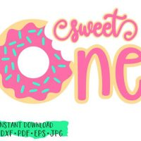Sweet One Donut, Donut Birthday, Doughnut SVG,