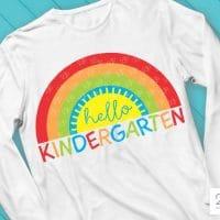 Hello Kindergarten SVG, Back to School SVG,