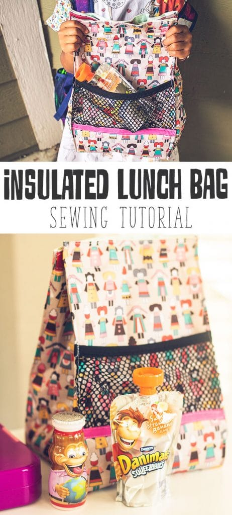 lunch bag pattern insulated for food sewing tutorial from Life Sew Savory