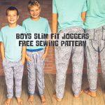 kids slim fit joggers sewing pattern