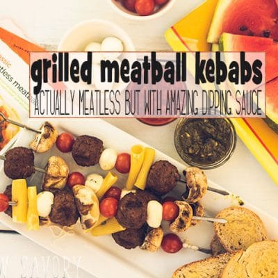 Grilled Meatball Kebabs – Meatless