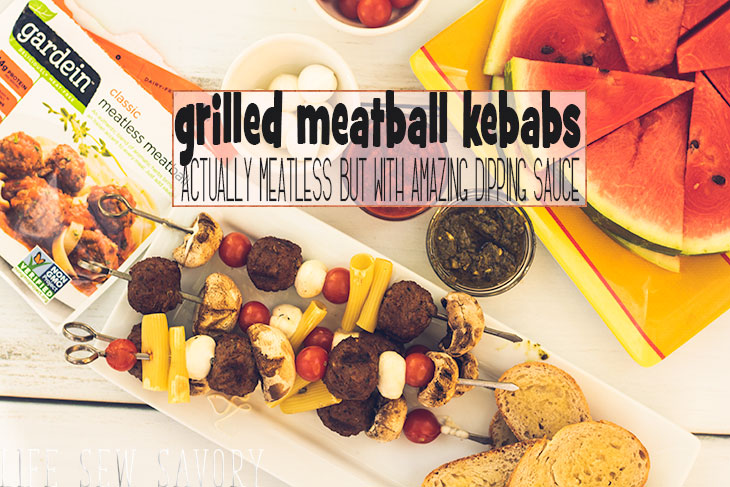 easy grilled kebabs with meatless meatballs