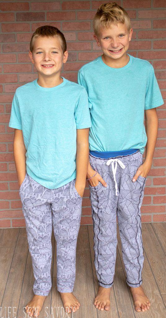 kids sweatpants sewing pattern