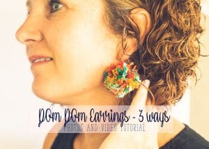 diy earrings with pom poms