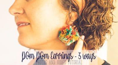 diy earrings with pom poms
