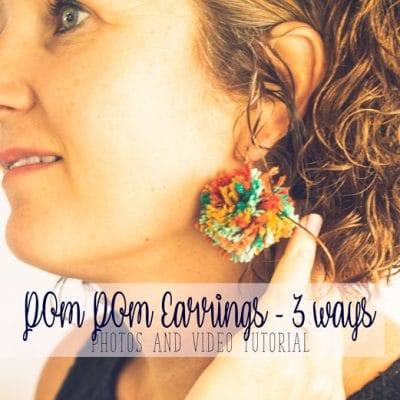 How to Make Pom Pom Earrings