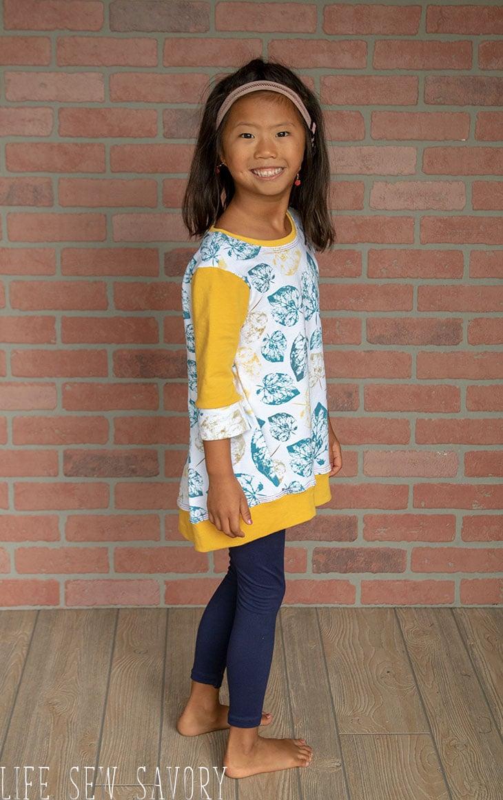 girls tunic sweatshirt