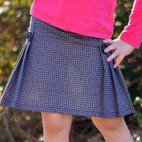 Tally Pleated Skirt and Shorts PDF Sewing Pattern