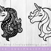 FREE Unicorn Mandala SVG, DXF, PNG & EPS