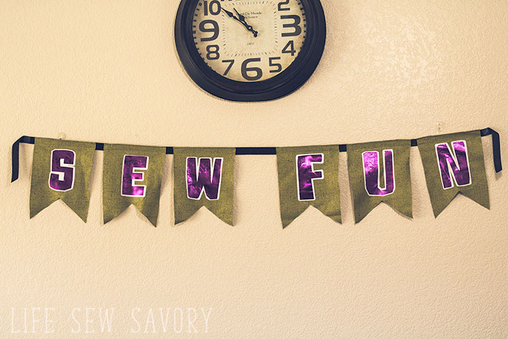 sewing themed bunting