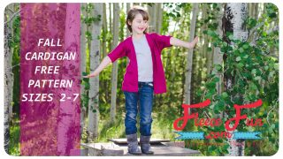Cardigan for Girls tutorial (free pattern)