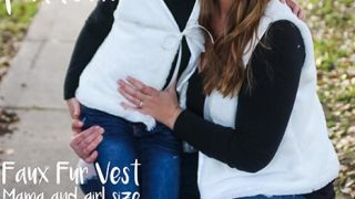 FREE PDF PATTERN- Faux Fur Vest for Women and Children