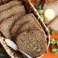 Healthy Pumpkin Bread with Walnuts • Happy Kitchen