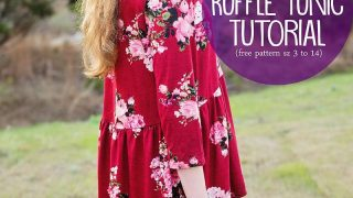 High Low Ruffle Tunic Top Tutorial w/ Free Pattern