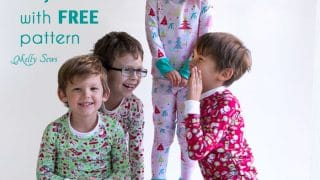DIY Christmas Pajamas - Sew pajamas with this FREE pattern