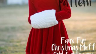 FREE PDF PATTERN- Faux Fur Christmas Muff for Girls and Dolly