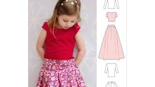 Childrens Pleated Skirt & Top Sewing Pattern