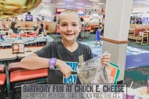 Birthday fun at Chuck E Cheese and free shirt cut file