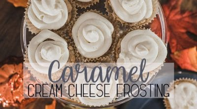 caramel frosting recipe with cream cheese and sea salt from Life Sew Savory