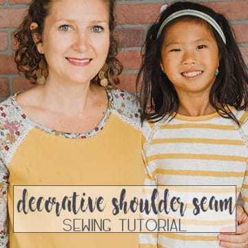 raglan shoulder seam sewing tutorial