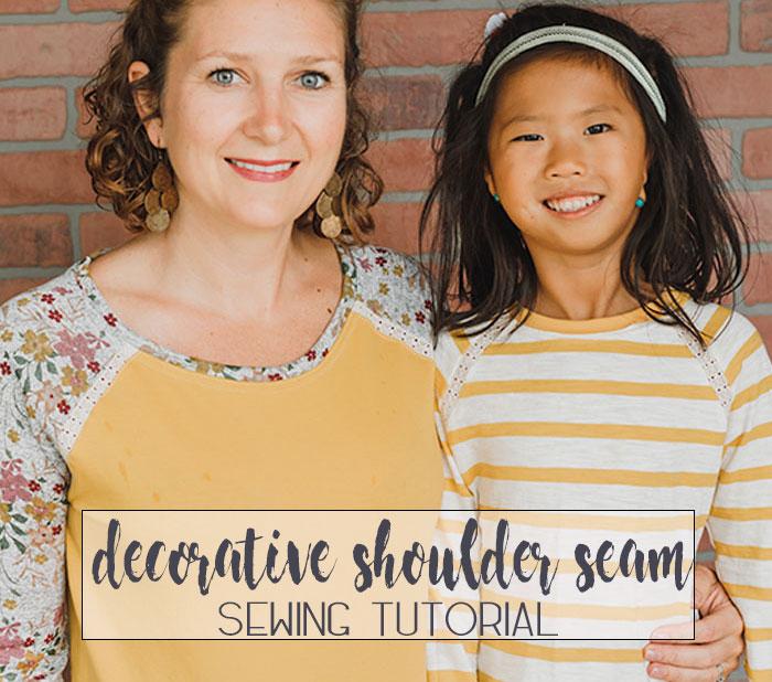 raglan shoulder seam sewing tutorial