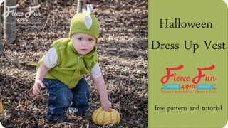 Child Fleece Vest Pattern, Free pdf sewing template.