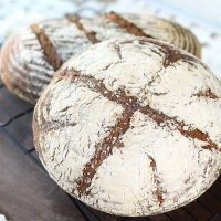 Homemade Rye Bread Recipe with Cranberry Walnut Butter