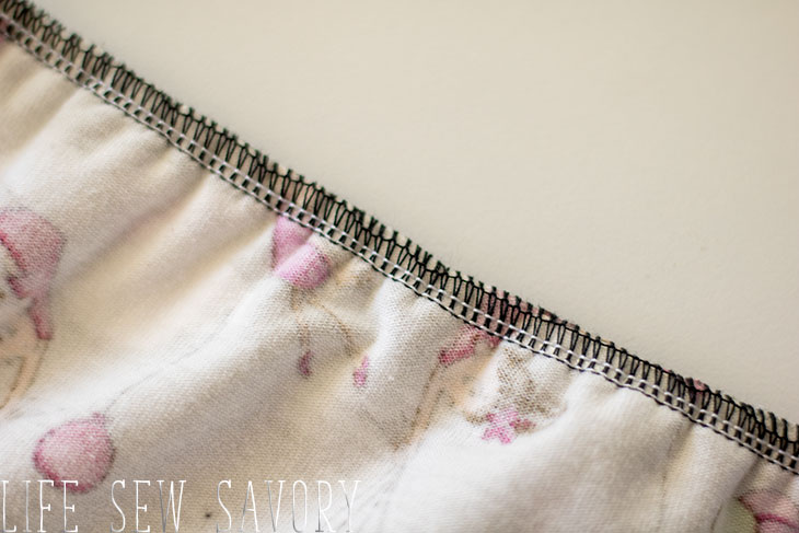 how to sew with clear elastic