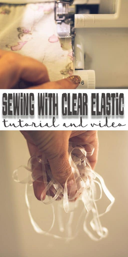 sewing with clear elastic on your serger tutorial and video from Life Sew Savory