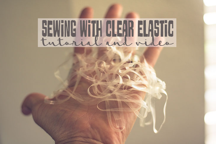 sewing clear elastic with your serger