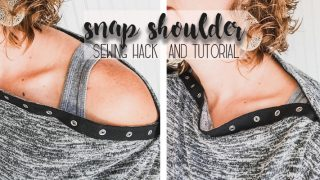 Sweater Sewing Pattern with Snap Shoulders