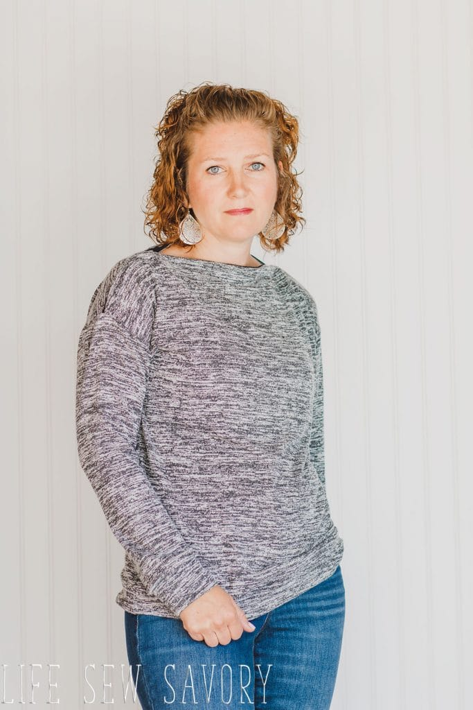 sweater sewing pattern from Life Sew savory