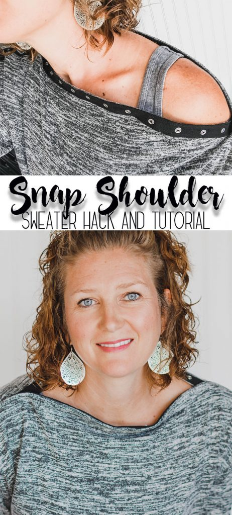 sweater sewing pattern with snap neckline sewing hack from Life Sew savory