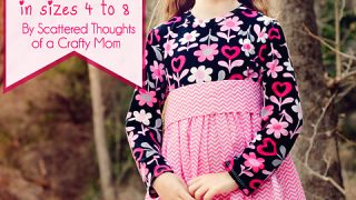 Girl's Twirly T-Shirt Dress Pattern and Tutorial, free sewing pattern sz 4 - 8