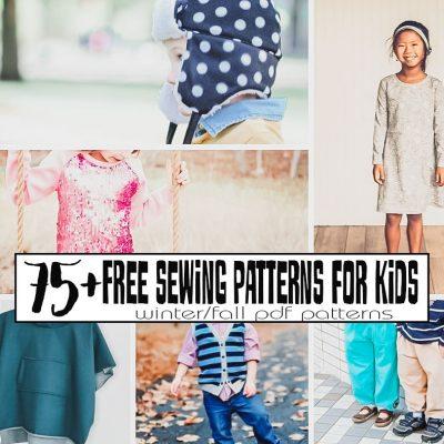 Free Sewing Patterns PDF Downloads – Kids Fall/Winter