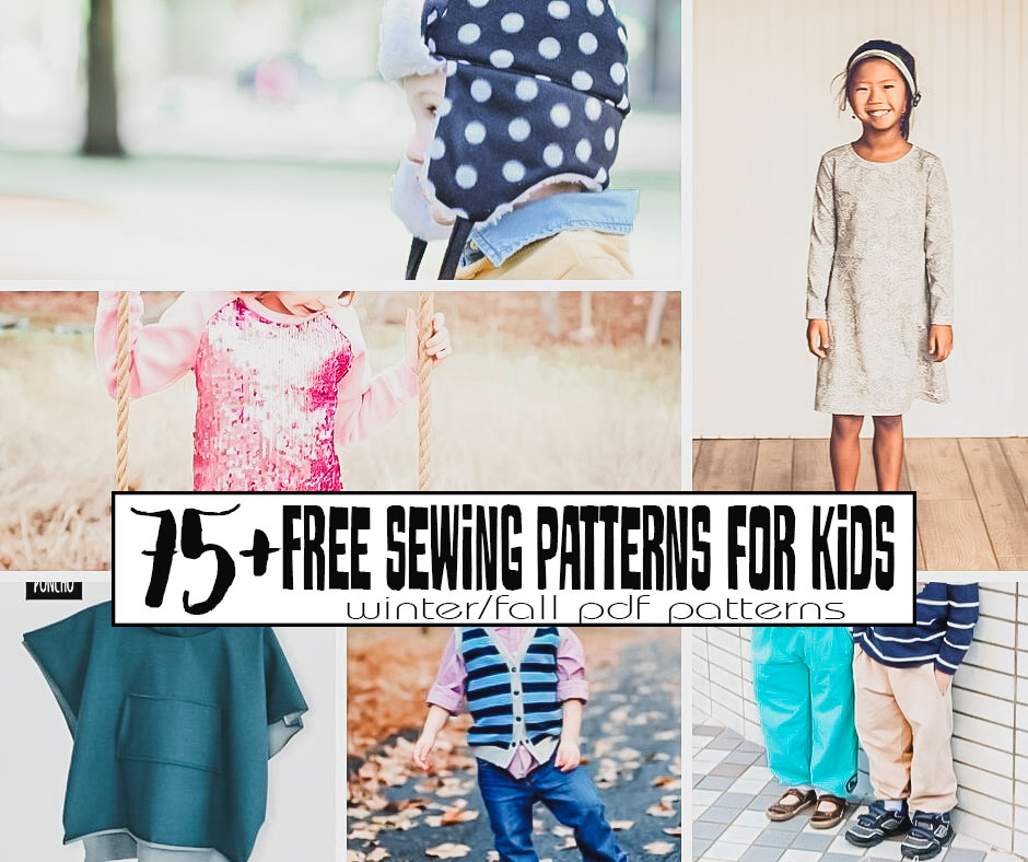 Free Sewing Patterns PDF Downloads - Kids Fall/Winter