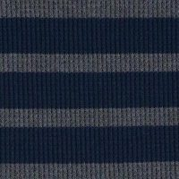 Navy and Charcoal Stripe Cotton Poly Thermal Knit
